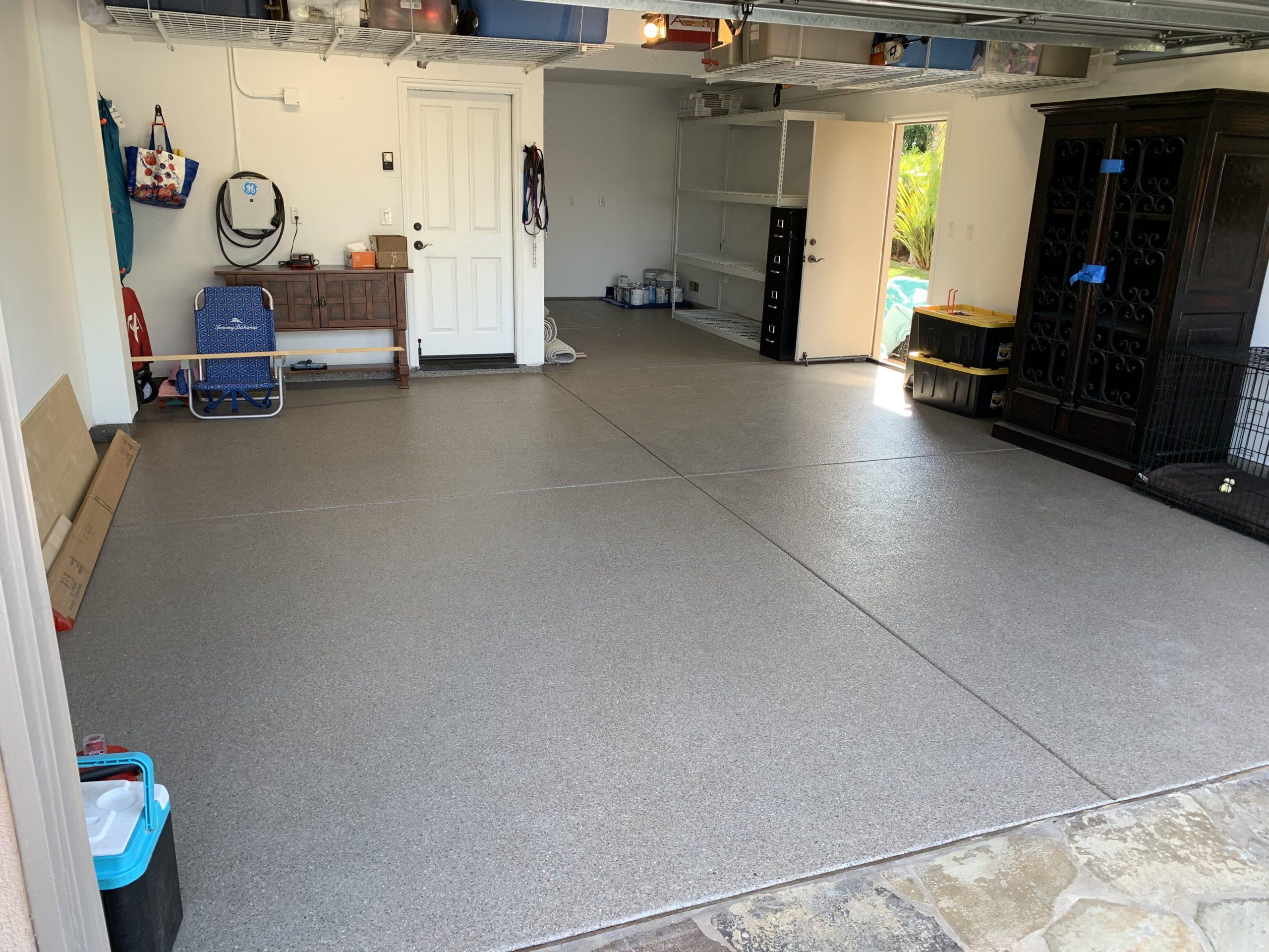 freshly coated garage floor in santa clarita