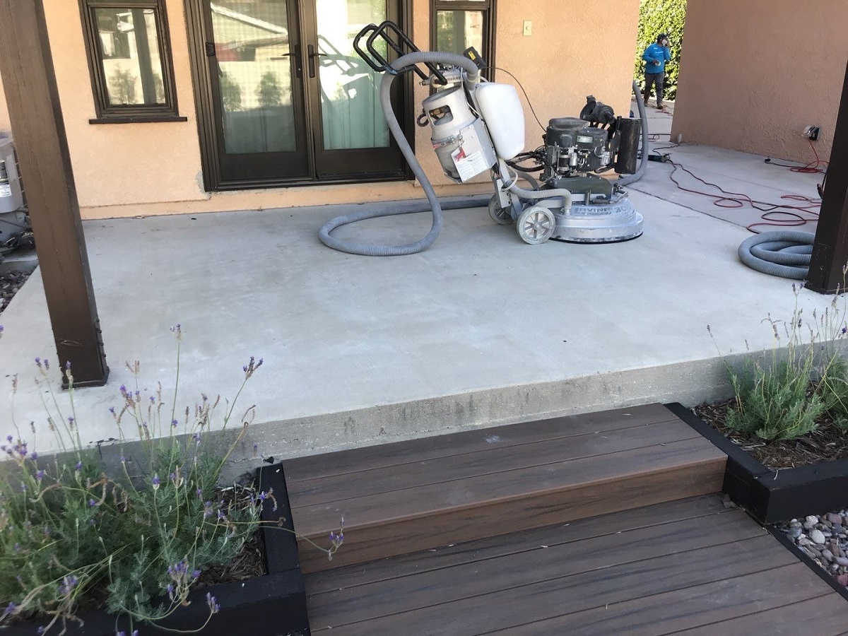 patio getting grinded in glendale,ca