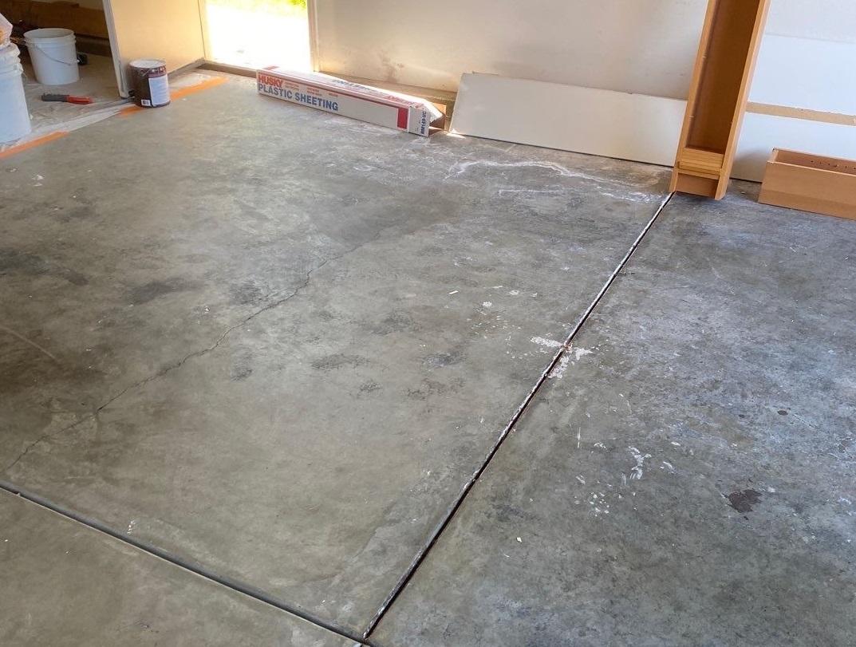 cracked garage floor in santa clarita