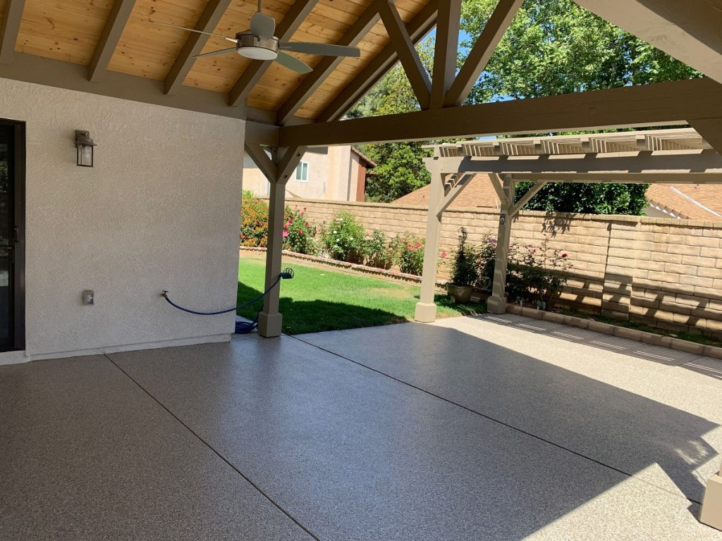 patio concrete coating in santa clarita