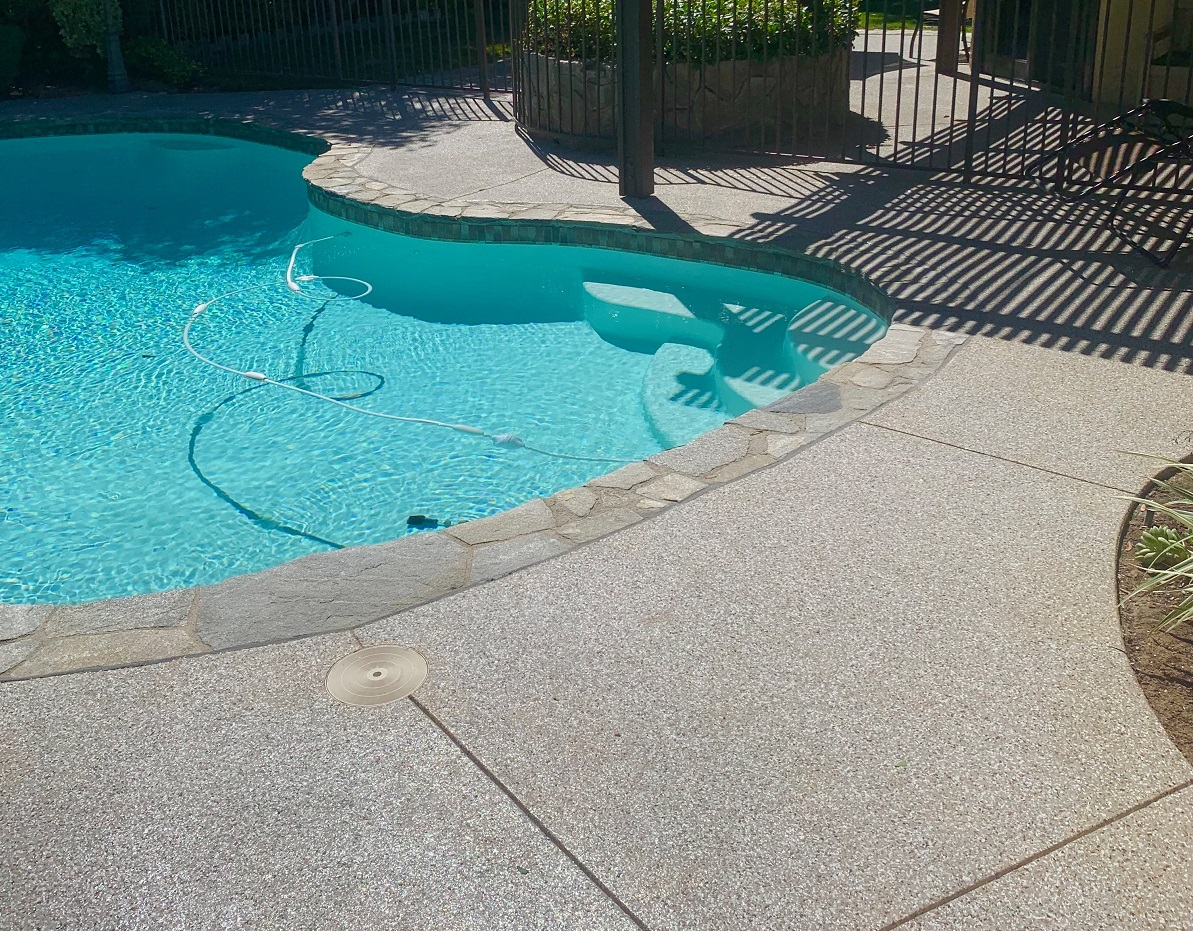 coated pool deck in castaic, CA