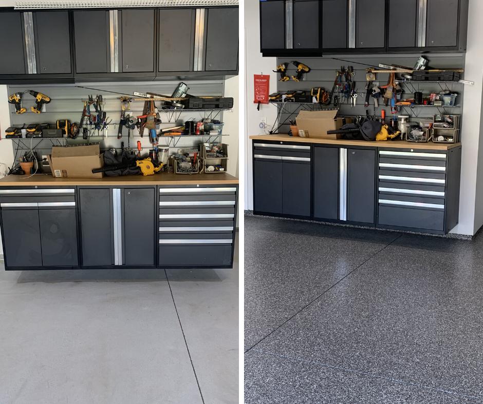 Concrete Floor Coatings for a Home Workshop in santa clarita, ca