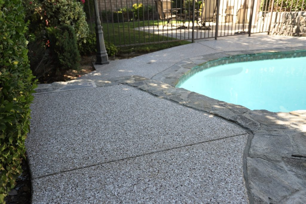 polyurea coated pool deck in santa clarita valley