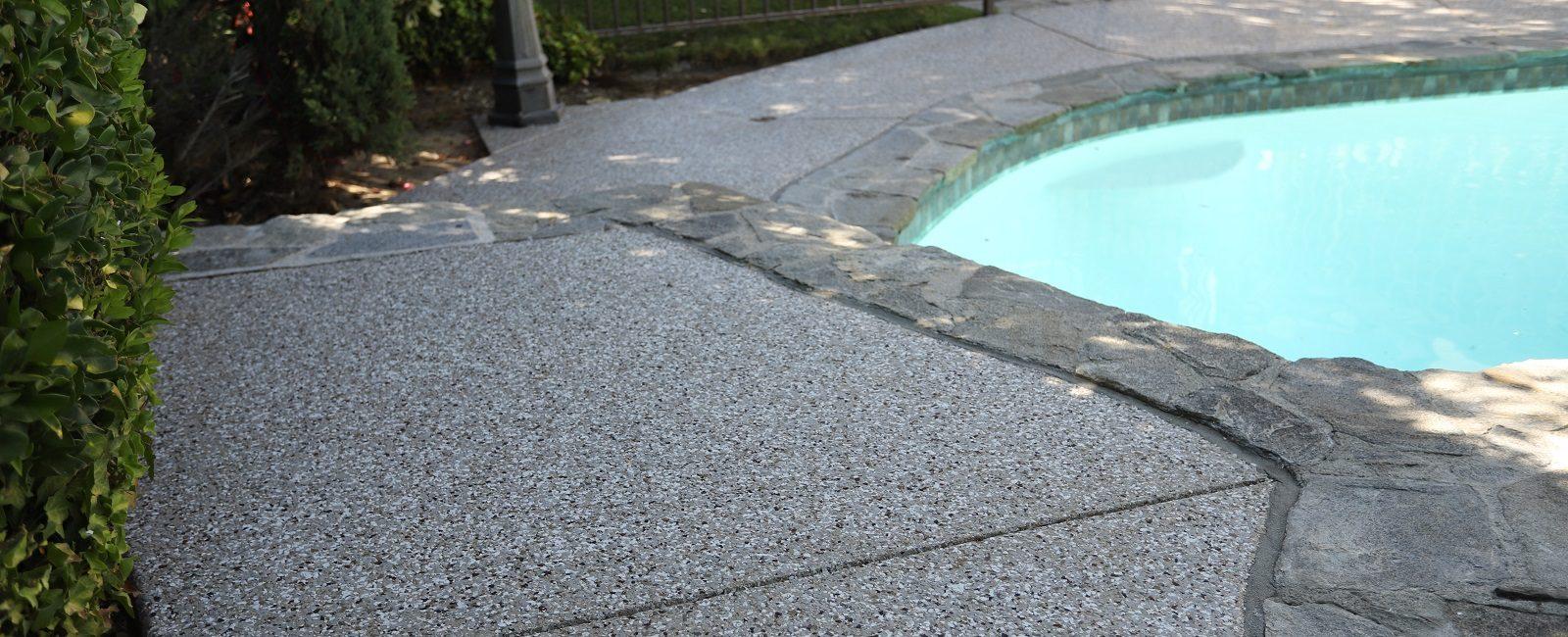 polyurea coated pool deck in santa clarita valley